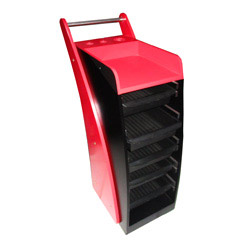 hairdressing trolley (red)
