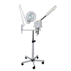 2 in 1 facial steamer with magnifying lamp