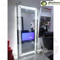 unique salon lighted tv mirror